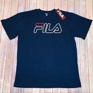 Fila Mens Big And Tall Blue T-Shirt Sz 1XL